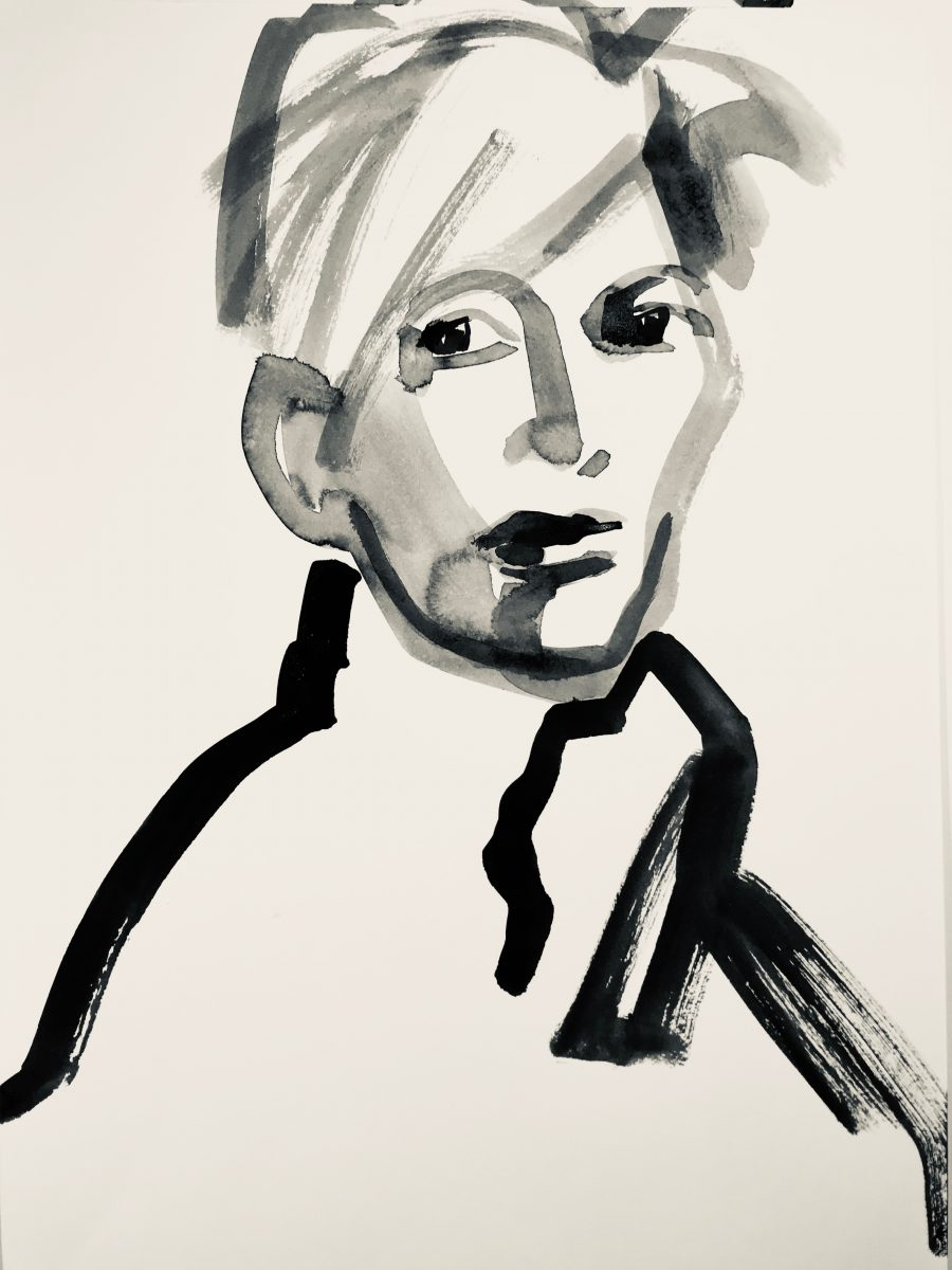 Drawing LG_KF205_30x42_TILDA 2018, Ink on Paper Tilda Swinton
